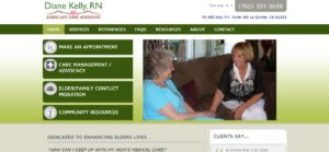DianeKellyRN.com home page