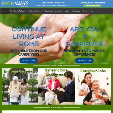 Pathways Private Duty - Home Care Website Design