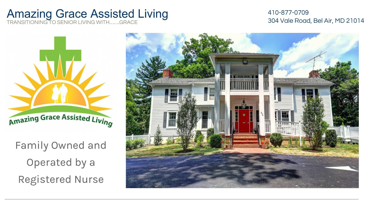 Amazing Grace Assisted Living home page screenshot above the fold